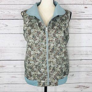 Pendleton Vest Reversible Sleeveless Pockets Zip